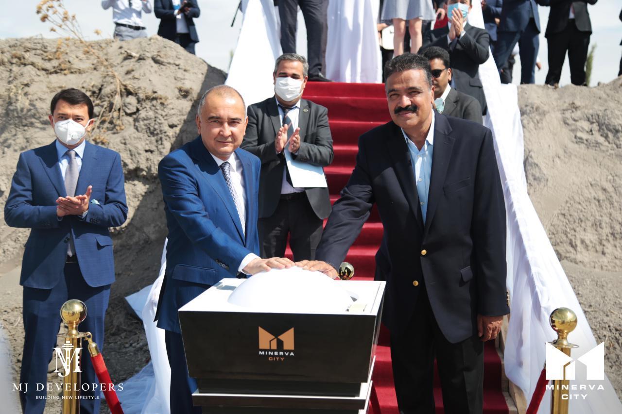 Прошла торжественная церемония закладки первого кирпича международного университета Minerva City