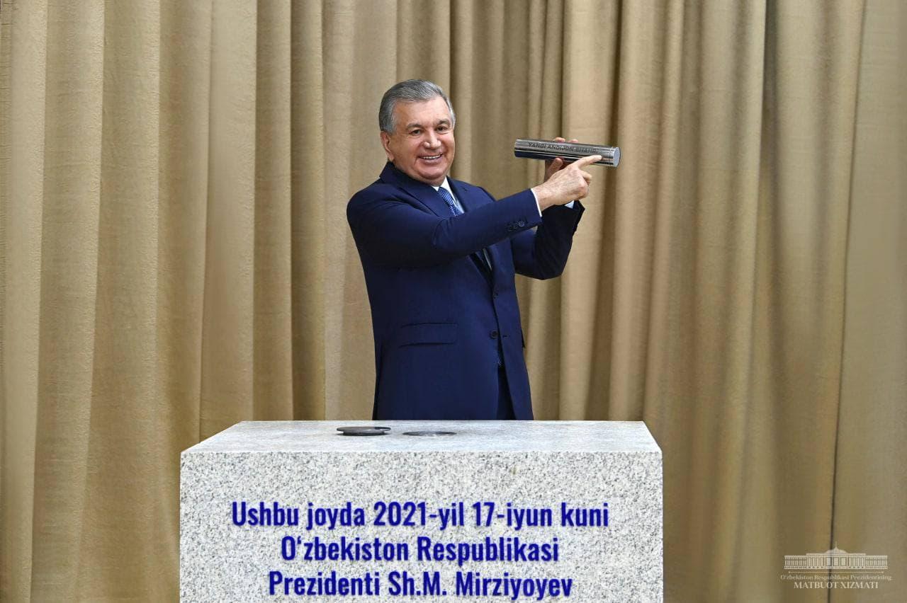 Шавкат Мирзиёев заложил первый камень в«Новый Андижан»