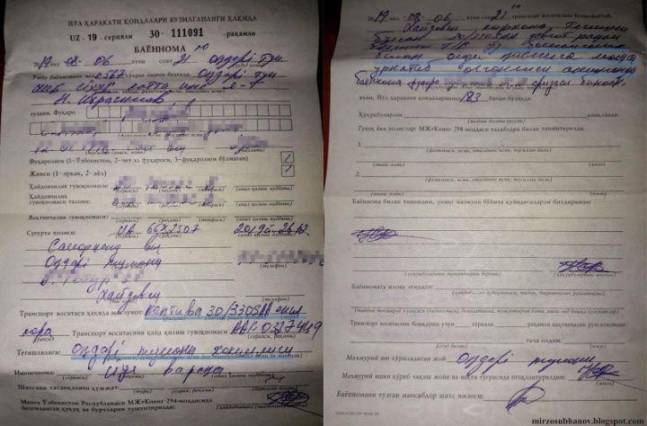 Хокима Акдарьинского района оштрафовали за произвольную установку мигалки на служебную Каптиву - 1